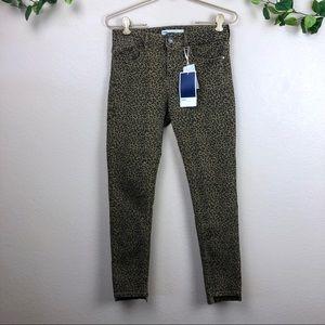 Zara • Z1975 Animal Print Skinny Jeans